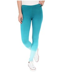 Converse Dip Dye Cotton Leggings Pool Blue Women's Casual Pants