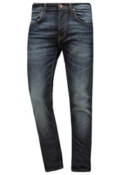 Lee Daren Straight Leg Jeans Green Glint Dark Blue Denim