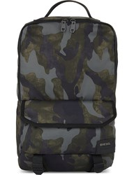 Diesel F Close Zipped Backpack Military Camou