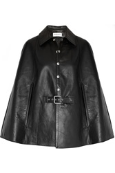 Saint Laurent Belted Leather Cape