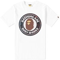 A Bathing Ape Pencil Neon Camo Busy Works Tee White