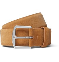 Loro Piana 3.5Cm Tan Suede Belt Tan