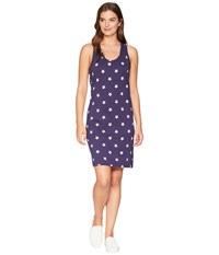 Alternative Apparel Effortless Printed Tank Dress Midnight Stars Navy