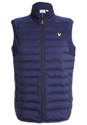 Lyle And Scott Moss Waistcoat Navy Dark Blue
