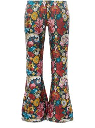 Marques Almeida Marques'almeida Floral Printed Cropped Trousers Women Polyester 10