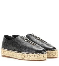 Alexander Wang Devon Leather Espadrille Style Sneakers Black