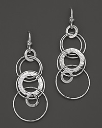 Ippolita Sterling Silver Hammered Jet Set Earrings No Color