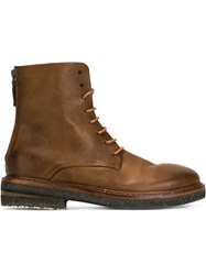 Marsell Marsell Lace Up Combat Boots Brown