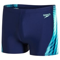 Speedo Placement Curve Panel Aquashort Blue Green
