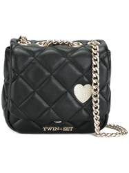 Twin Set Quilted Crossbody Bag Black