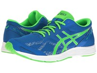 Asics Gel Hyper Speed 7 Electric Blue Green Gecko Indigo Blue Men's Running Shoes