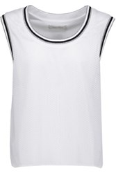 Balmain Pierre Metallic Mesh T Shirt White