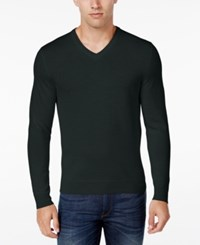Club Room Men's Big And Tall Merino Wool V Neck Sweater Only At Macy's Deep Black