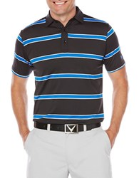 Callaway Performance Striped Polo Caviar