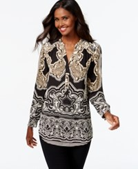 Inc International Concepts Printed Tunic Top Only At Macy's Secret Garden