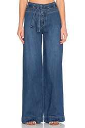 Free People Belted Flare Jean Maytal Blue