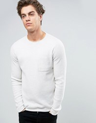New Look Crew Neck Jumper In Ecru Ecru Cream
