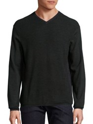 Zachary Prell Colorblock V Neck Sweater Military Green