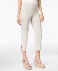 Jm Collection Pull On Lattice Inset Capri Pants Only At Macy's Stonewall