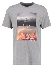 Billabong Memories Tailored Fit Print Tshirt Grey Heather Mottled Grey