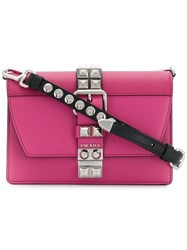 Prada Elektra Small Shoulder Bag Pink And Purple