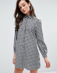 Fashion Union Shirt Dress In Gingham Gingham Multi