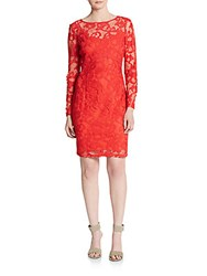 Marc New York Empire Lace Shift Dress Lacquer Red
