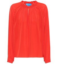 Mih Jeans Sidi Silk Blouse Red