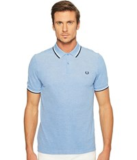 Fred Perry Slim Fit Solid Plain Polo Prince Blue Oxford White Navy Men's Short Sleeve Pullover