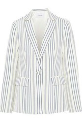 Frame Woman Striped Jacquard Blazer Off White Off White