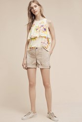 Anthropologie Tenley Roll Up Shorts Sand