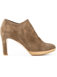 Roberto Del Carlo Heeled Bootie Nude And Neutrals