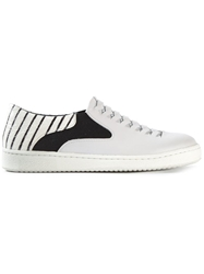 Thakoon Addition Woven Panel Trainers Grey