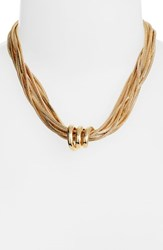 Halogen Snake Chain Collar Necklace Gold