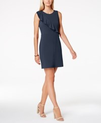Charter Club Petite Ruffled Shift Dress Created For Macy's Intrepid Blue
