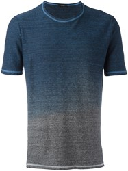 Roberto Collina Gradient T Shirt Blue