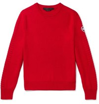 Canada Goose Patterson Merino Wool Sweater Red