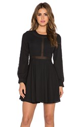 Lucca Couture Mesh Insert Babydoll Dress Black