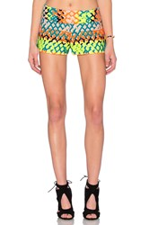 Milly Couture Neon Jacquard Short Orange