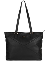 Kenneth Cole Reaction Mcgote 15 Leather Computer Business Tote Black