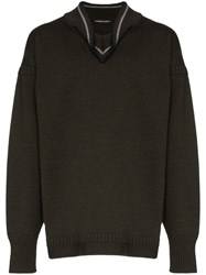 Y Project Folded Collar Sweater Green