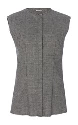 Sophie Theallet Imaan Cashmere Sleeveless Shirt Light Grey