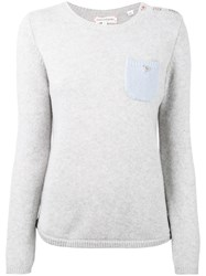 Chinti And Parker One Pocket Sweater Women Cashmere Xs Grey