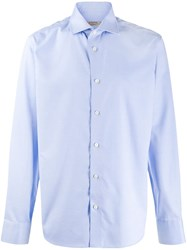 Z Zegna Batwing Collar Shirt Blue