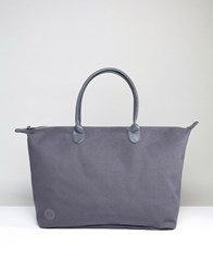 Mi Pac Canvas Weekender Bag In Charcoal Canvas Gray