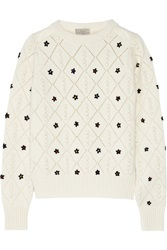 Preen Floral Embroidered Wool Sweater