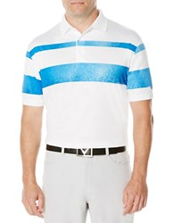 Callaway Performance Color Block Polo White