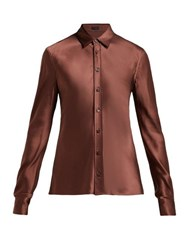 Joseph George Satin Blouse Brown