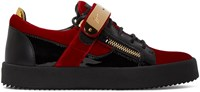 Giuseppe Zanotti Red Velvet London Sneakers