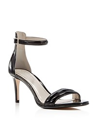 Kenneth Cole Mallory Ankle Strap Mid Heel Sandals Black